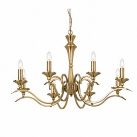 Endon Kora Antique Brass 8 Light Chandelier