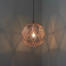 Endon Armour Copper Plate Mesh Pendant Light