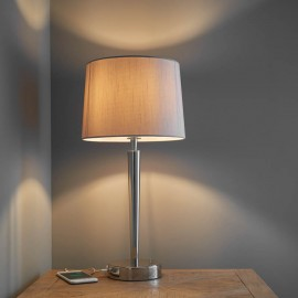 Endon Syon Table Lamp With USB Port