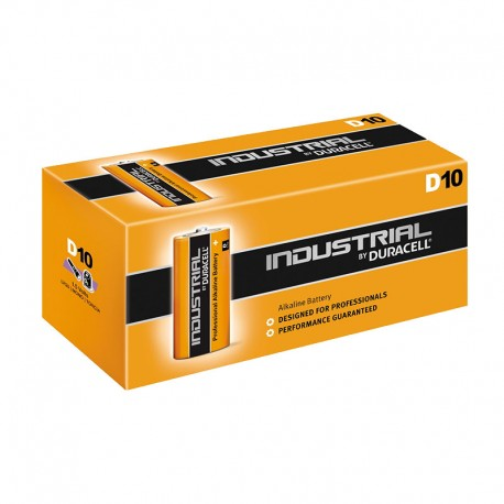 Duracell Industrial D Cell Batteries 10 Box