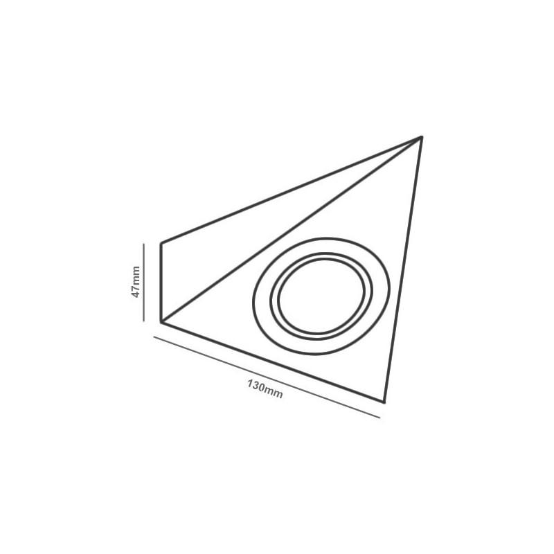 triangle 12v led cabinet    undershelf downlight