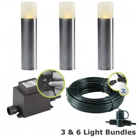 Techmar Oak 12V Plug & Play LED Garden Lighting Post Light Kit