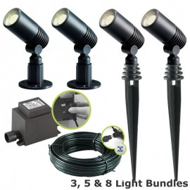Alder 12V Plug & Play LED Garden Lighting Post Light Kit