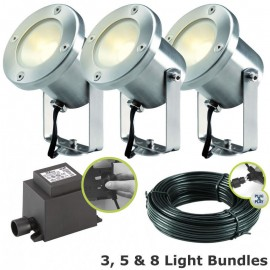 Catalpa 12V Plug & Play LED Garden Lighting Spotlight Kit