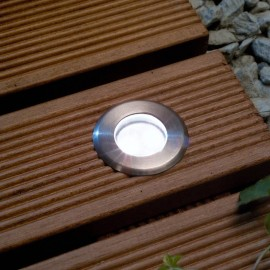 Techmar Astrum White 12V LED Garden Deck Light