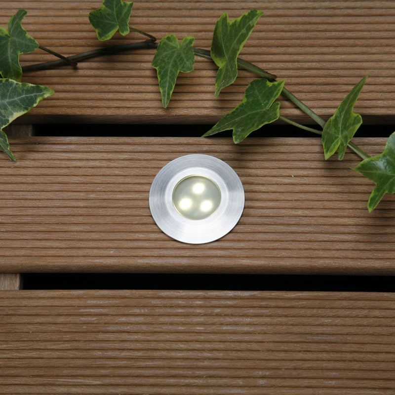 Techmar plug in deck ground lights techmar alpha warm white 12v led garden deck light aloadofball Choice Image
