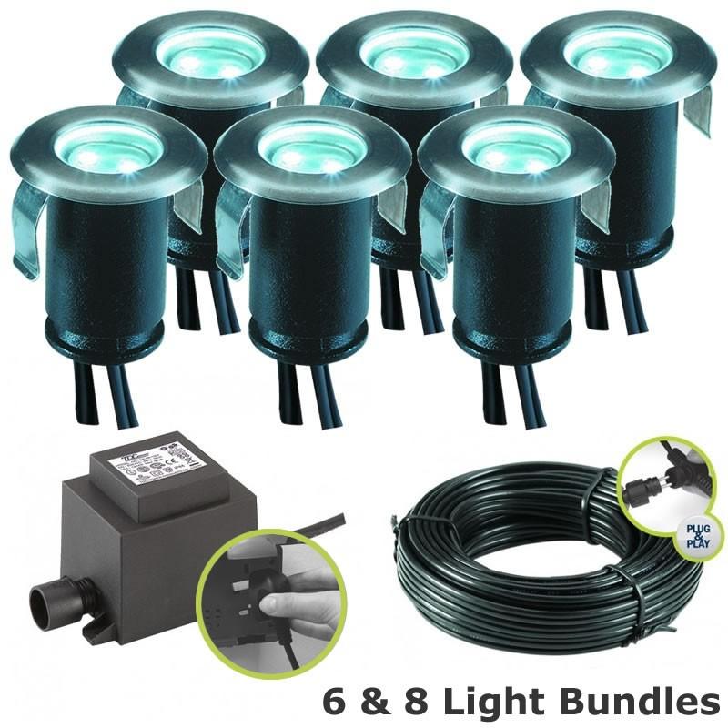 Techmar astrum white led deck lights kit for Garden decking lights uk