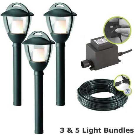 Laurus Garden Post Light Kit