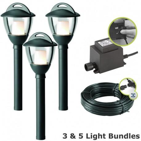 Techmar Laurus 12V Plug & Play LED Garden Lighting Post Light Kit