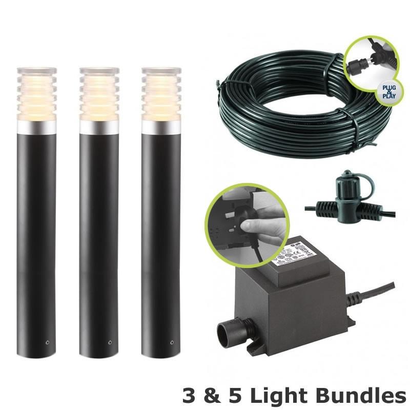 TECHMAR Arco40 Kit Arco 40 12V Plug U0026 Play LED Garden Lighting Post Light  Kit