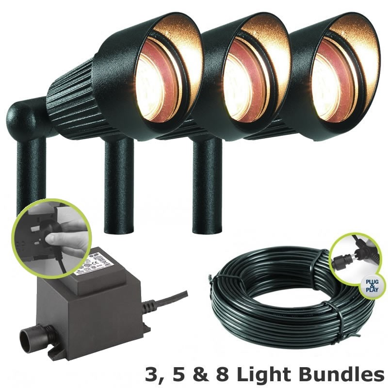 Techmar Focus Garden LED Post Light Kit