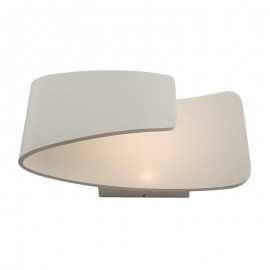 Endon Jenkins 7.5W LED Polished Matt White Wall Light