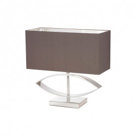 Tramini Silver Table Lamp & Taupe Shade