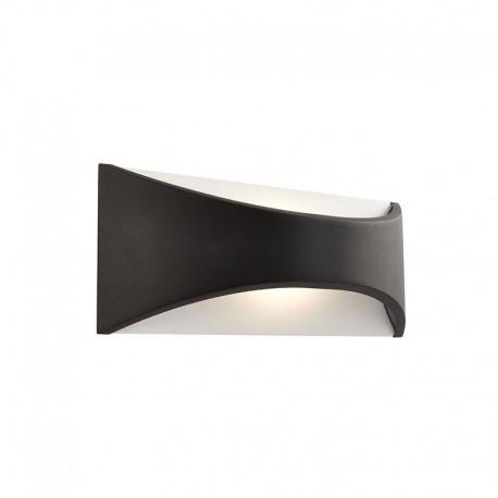 Endon Lighting Vulcan 220mm Matt Black IP65 Wall Light