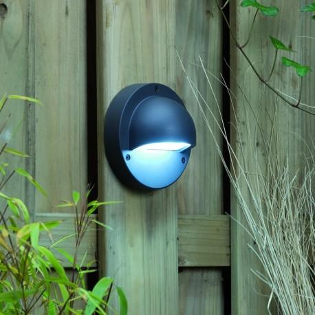 Deimos White 12V LED Garden Wall Light