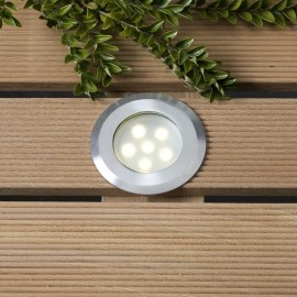 Techmar Sirius White 12V LED Garden Deck Light
